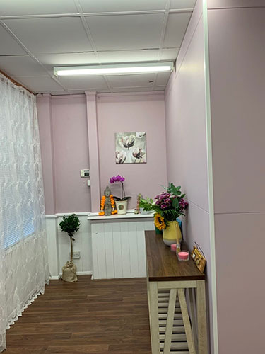 Interior of premises, pink walls